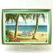 Beach Christmas Hammock 16 Ct Boxed Greeting Cards Tropical New Palm Trees Boat