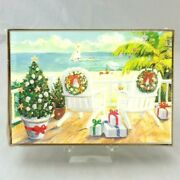 Adirondack Deck Chairs 18 Ct Boxed Christmas Greeting Cards New Tropical Beach