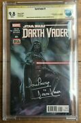 Darth Vader 1 Adi Granov Cover Cbcs Ss 9.8 Signed And Remarked By David Prowse