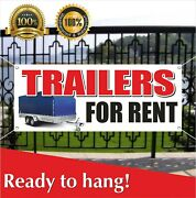 Trailers For Rent Banner Vinyl / Mesh Banner Sign Lease Free Shipping Many Sizes