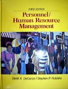 Personnel The Management Of Human Resources Hardcover David A. Decenzo