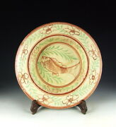 China Antiques Cizhou Ware Red-green Coloring Porcelain Plate