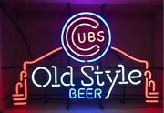 New Old Style Chicago Cubs 2016 World Series Champion Neon Sign 19x15