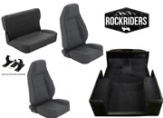 Pre-order 1976-95 Jeep Wrangler Cj7 Reclining Front, Rear Seat And Carpet Combo