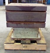 T-slot Table, 21 3/4 Length, 16 1/4 Width, 20 Height