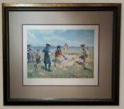 The First International Foursome Antique Golf Print - Free Shipping