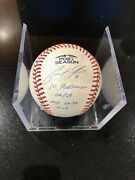 Brewers Christian Yelich Playoff Debut Game Used Ball Signed Inscribed Mlb Holo