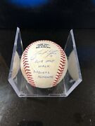 Brewers Christian Yelich Playoff Game Used Ball Signed Inscribed Mlb Holo Rare