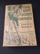 Rare Vintage Antique Hardcover Book Boy Scout Crusoes 1916 By Edwin C. Burritt