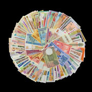 Lot Set 100 Pcs Different Mix World Banknotes From 30 Different Countries Unc