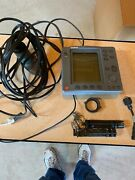 Used Raytheon L 755 Chartplotter And Fish Finder Not Working W/ Transducer / Cable