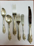 Wallace Grande Baroque 925 Sterling Silver 6 Pc Place Setting.
