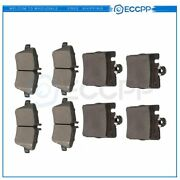Front And Rear Brake Ceramic Pads For 2002-2005 Mercedes Benz C230 Performance