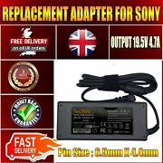 New Sony Vaio Vgn-cr29xn/b 90w Replacement Techvs Laptop Ac Adapter Charger