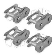 4pcs Of 25h Roller Chain Connecting Link 1/4 Carbon Steel Spring Clip