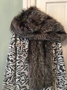 Vintage Fox Fur Stole Wrap Shawl Cape Georges Kaplan 60and039and039 L
