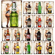 Sexy Beer Bottles Retro Style Metal Sign/plaque Home Bar Plaques Man Cave Gift