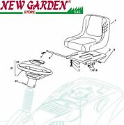Exploded View Seat Steering Wheel Mower Lawn El63 Xe70vd Castelgarden Parts