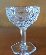Fostoria American Hex Footed Saucer Champagne Sherbets