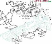 Exploded View Frame 40 3/16in Xt165hde Mower Lawn Parts Castelgarden 2002-13