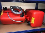 2x Quicksilver 25 Litre Fuel Tanks And 8ft Fuel Line Johnson Evinrude Outboard