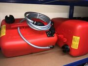 2x Quicksilver 25 Litre Fuel Tanks And 12ft Fuel Line Johnson Evinrude Outboard