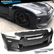 Fits 09-22 Nissan R35 Gtr Gt-r Oe Factory Front Bumper Cover Replacement - Pp