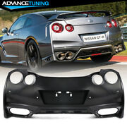 Fits 09-22 Nissan R35 Gtr Upgrade 09-16 To 17+ Rear Bumper Cover Replacement Pp