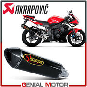 Exhaust Carbon Approved Muffler Akrapovic For Yamaha Yzf-r 6 2003 2005