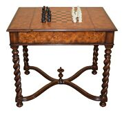 L47019 Theodore Alexander 5205-014 Inlaid Games Table W Reservable Top New