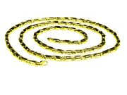18k Yellow Gold Cylinder Tube Link Menand039s Chain Necklace 22 38 Grams 3.5 Mm