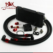 163f Small Dual Pass Bar And Plate Oil Cooler Thermostatic Filter Adapter Hose Kit
