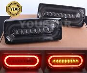 Usa Stock X2 Shadow Smoked Led Rear Lamps Tail Lights For Mercedes W463 G Class