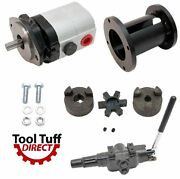 28 Gpm 2-stage Hydraulic Log Splitter Pump Mount Coupler And A7 Detent Valve Kit