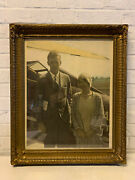 Antique Signed Charles A Lindbergh And Anne Morrow Silver Gelatin Photograph