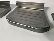 Ford F-100 Pickup Truck Steel Stepside Step Plates Set 1967-1972 Made In Usa