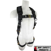 Fall Protection Sw99280-hw Heavyweight Construction Safety Harness Padded 3x/4x