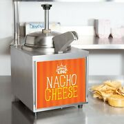 3.5 Qt 10 Can Warmer Hot Fudge Chili Nacho Cheese Commercial W/ Pump And Spout