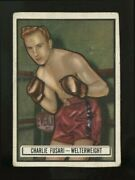 1951 Topps Ringside Boxing 84 Charlie Fusari Puzzle Back Nno Very Rare