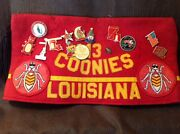 Vintage Shriner's Hat Coonies Louisiana Pin Collection Fez Post 2130 Moc '85 B6