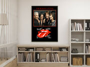 The Rolling Stones Mick Jagger Signed 12x8 Tribute Memorabilia Gift