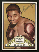 1951 Topps Ringside Boxing 22 Beau Jack Autographed Pack Issued Card