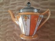 Fraunfelter Of Zanesville Ohio Teapot Decorated By Royal-rochester 1923-1939