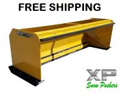 7' Xp30 Cat Yellow Snow Pusher W/ Pullback Bar- Skid Steer Loader– Free Shipping