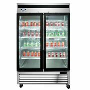 Atosa Usa Mcf8707gr 54 Two Section Merchandiser Refrigerator With Glass Door...