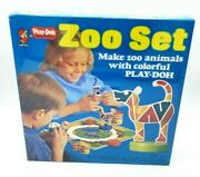 New Vintage 1970s Kenner Playdoh Zoo Set Antique Toy Clay Animals Play-doh Retro