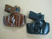 Azula Leather Owb 2 Slot Pancake Belt Holster Ccw For.. Choose Color And Gun - 4