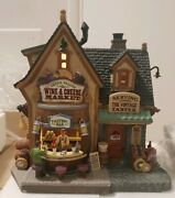 Porcelain Lighted Building Lemax Green Valley Wine And Cheese Market 45679