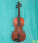 1870's - Early 1900's Paganini 4/4 Violin Good Cond. W/ Case Germany Or France