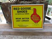 Red Goose Shoes Porcelain Store Display Sign-excellent Condition